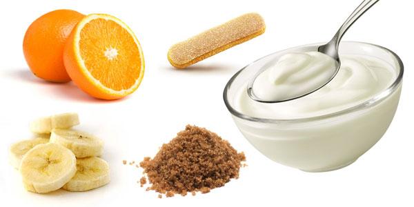 Merenda allo yogurt e frutta
